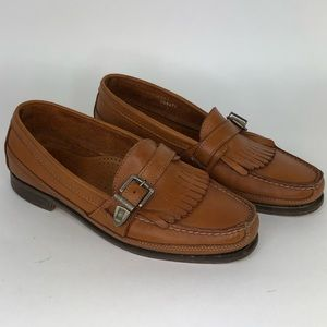Dexter Buckle Strap Moc Toe with Kilt Loafers